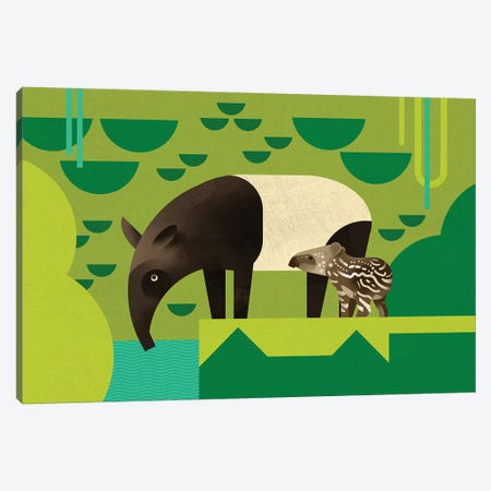Tapir Canvas Print #DBR39} by Dieter Braun Canvas Print