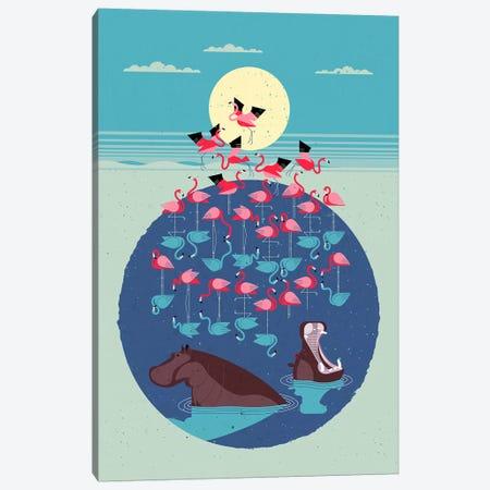 Flamingo Lake Canvas Print #DBR3} by Dieter Braun Canvas Print
