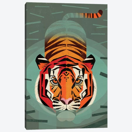 Tiger Canvas Print #DBR40} by Dieter Braun Canvas Wall Art