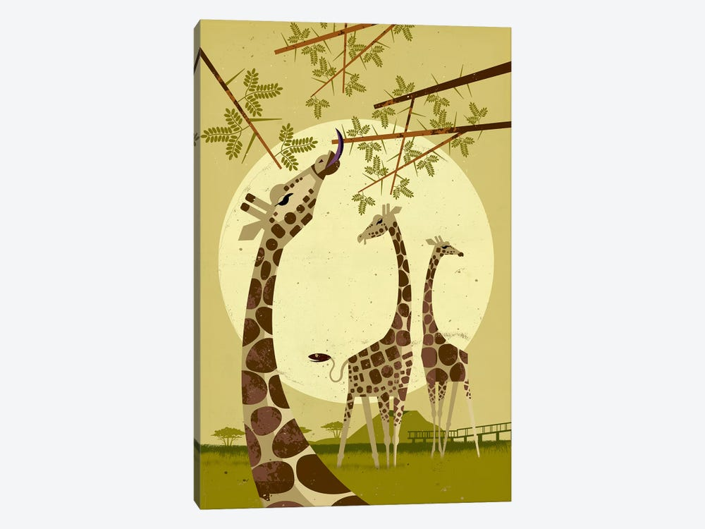 Giraffes by Dieter Braun 1-piece Canvas Art Print
