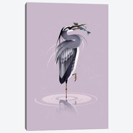 Grey Heron Canvas Print #DBR6} by Dieter Braun Canvas Artwork