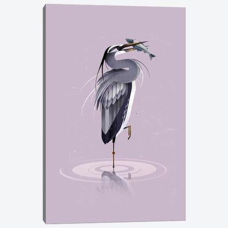 Grey Heron Canvas Print #DBR6} by Dieter Braun Canvas Artwork