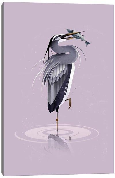 Grey Heron Canvas Art Print