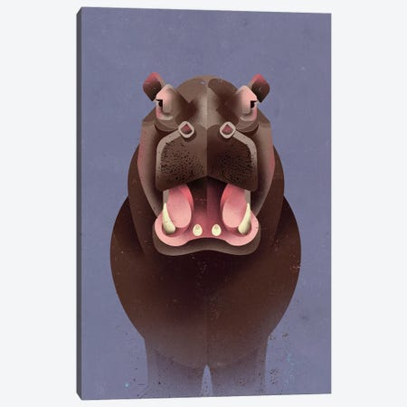 Hippo Canvas Print #DBR8} by Dieter Braun Canvas Art Print