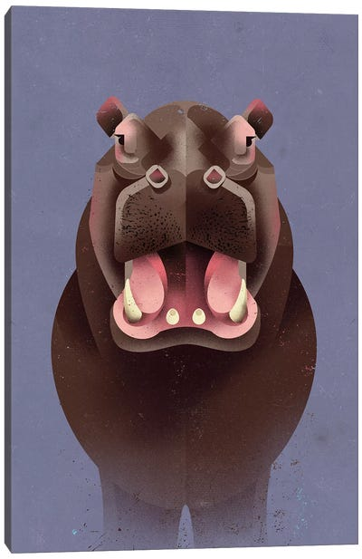 Hippo Canvas Art Print