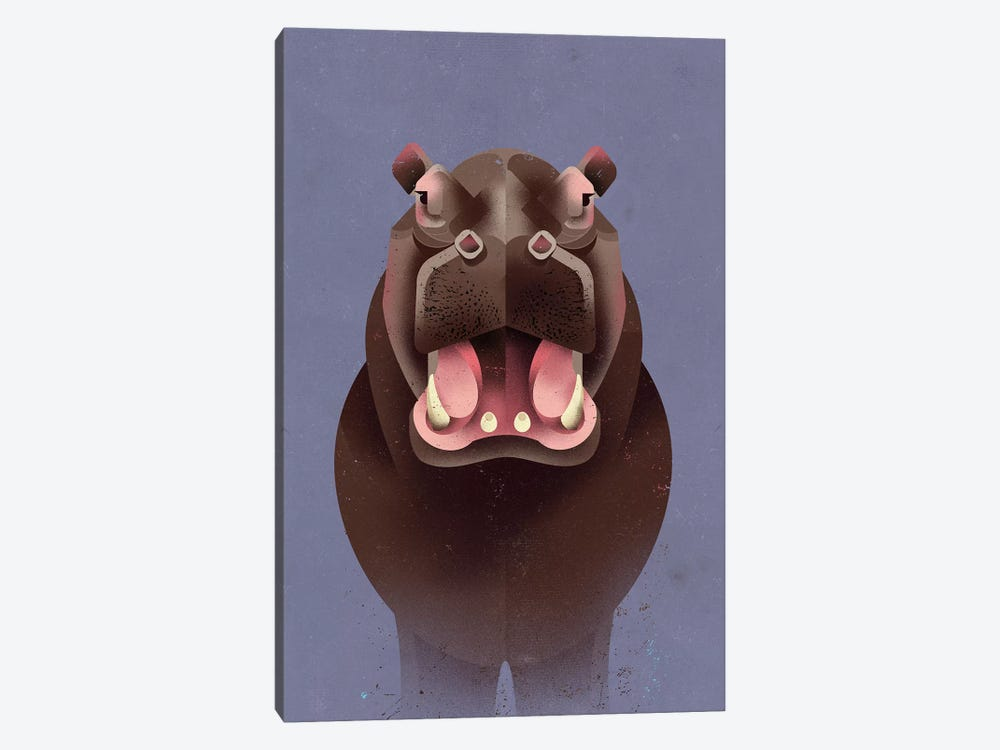 Hippo 1-piece Canvas Art
