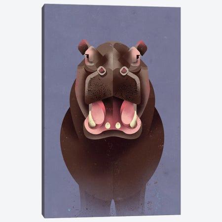 Hippo Canvas Print #DBR8} by Dieter Braun Canvas Art Print