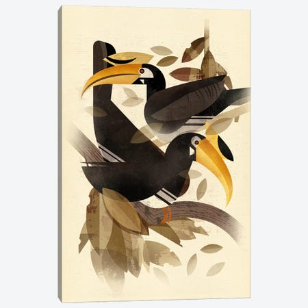 Hornbills Canvas Print #DBR9} by Dieter Braun Canvas Art Print