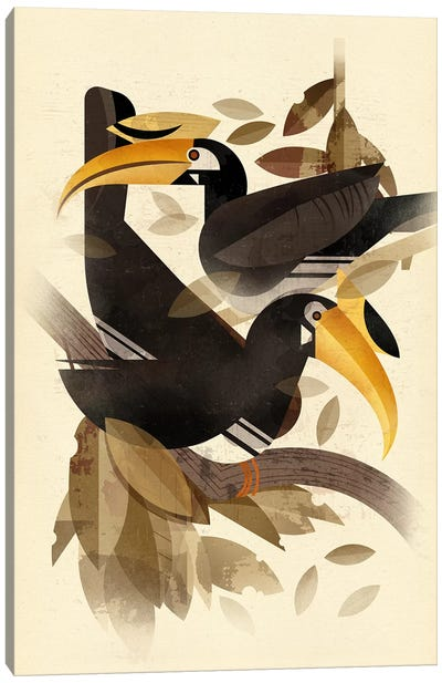Hornbills Canvas Art Print