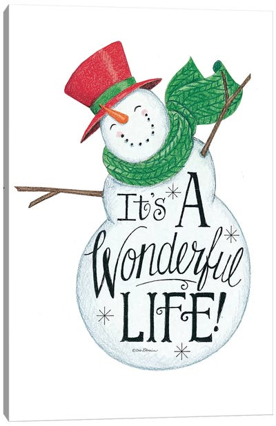 It's a Wonderful Life Snowman Canvas Art Print