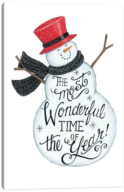 Wonderful Time Snowman Canvas Art Print