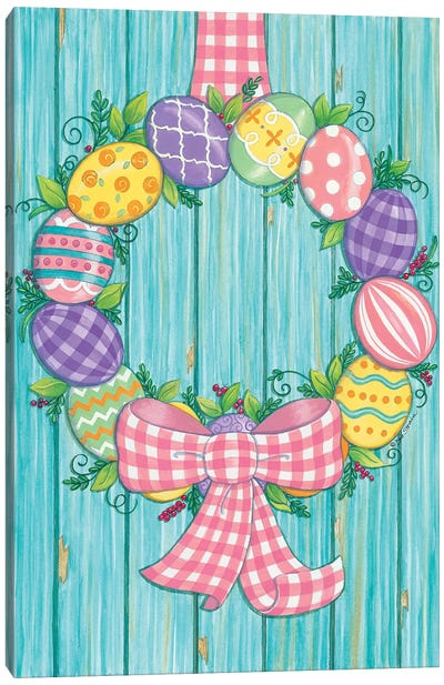 Easter Egg Wreath Canvas Art Print