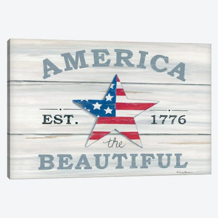 America the Beautiful   Canvas Print #DBS1} by Deb Strain Canvas Art