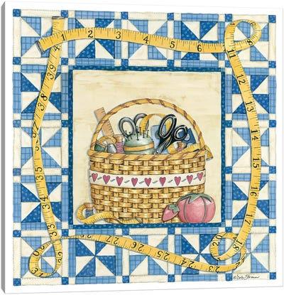 Quilt Basket Canvas Art Print