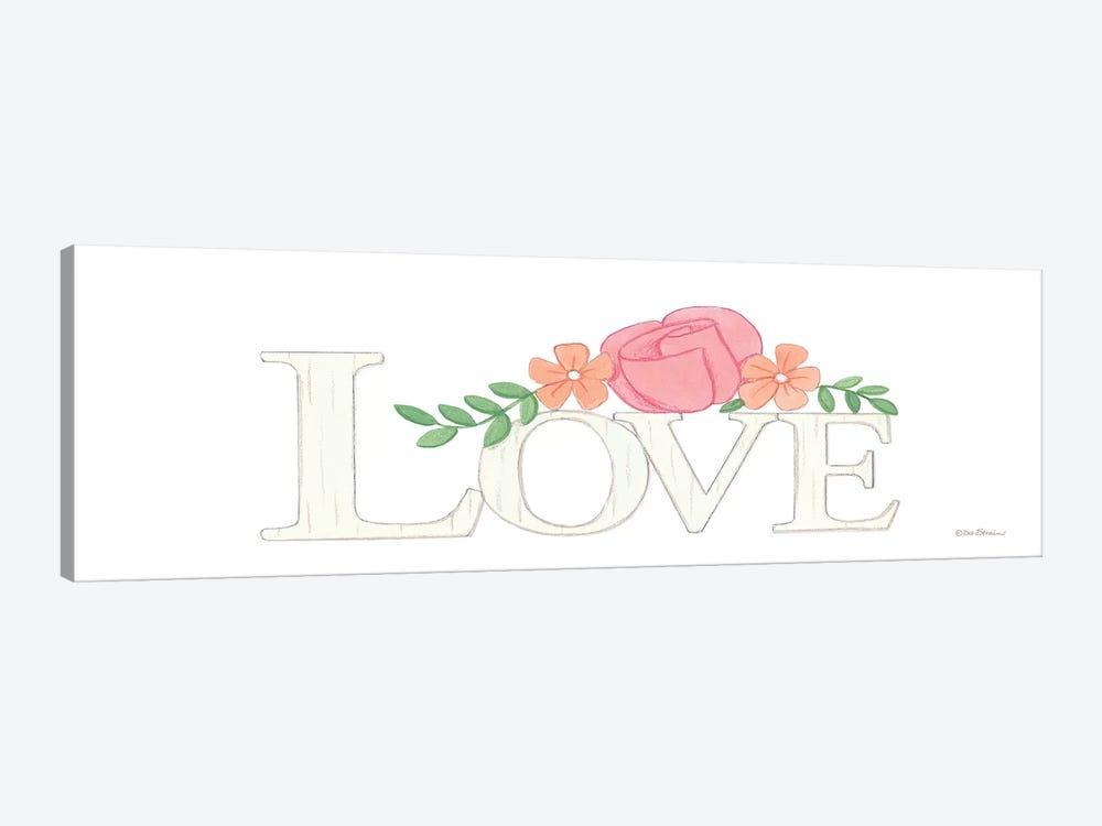Love by Deb Strain 1-piece Canvas Print