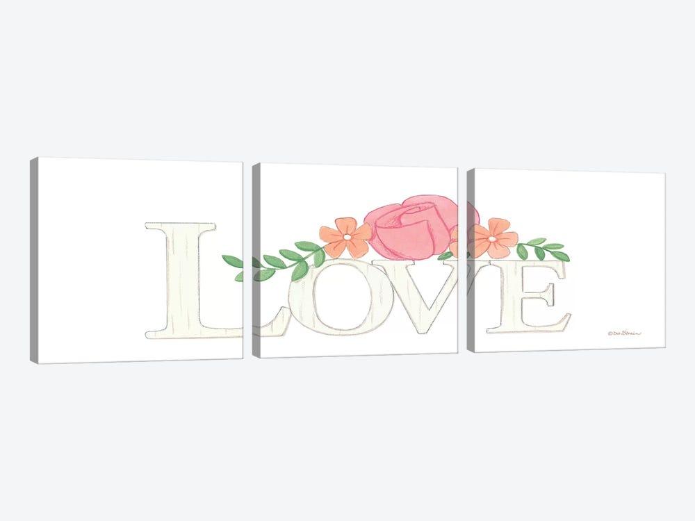 Love by Deb Strain 3-piece Canvas Print