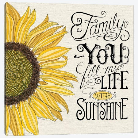 Fill My Life With Sunshine Canvas Print #DBS29} by Deb Strain Canvas Print