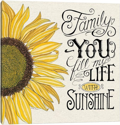 Fill My Life With Sunshine Canvas Art Print