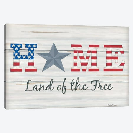 Home - Land of the Free I Canvas Print #DBS2} by Deb Strain Canvas Wall Art