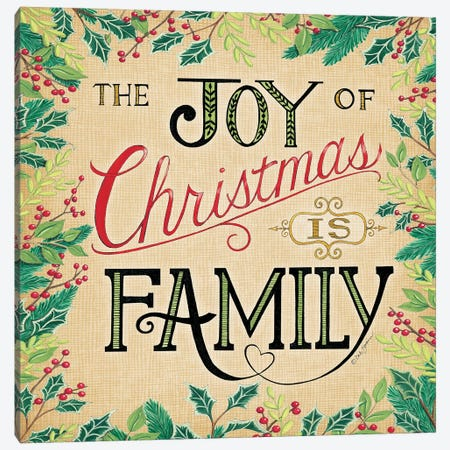 Joy Of Christmas Canvas Print #DBS34} by Deb Strain Canvas Art Print