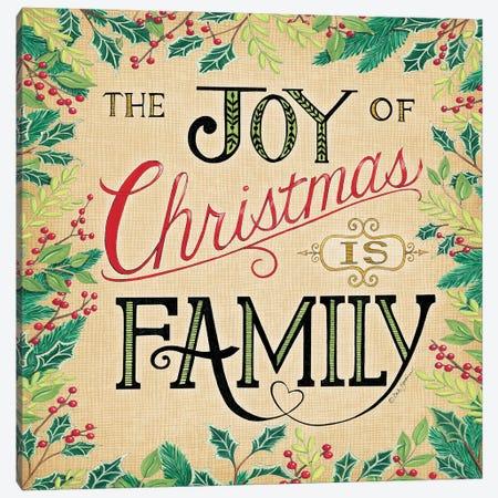 Joy Of Christmas Canvas Print #DBS34} by Deb Strain Canvas Art Print