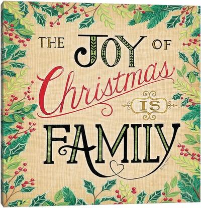 Joy Of Christmas Canvas Art Print