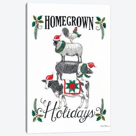 Homegrown Holidays Canvas Print #DBS37} by Deb Strain Art Print