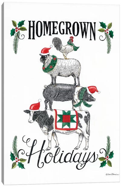 Homegrown Holidays Canvas Art Print