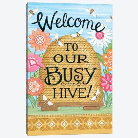 Busy Hive Canvas Print #DBS40} by Deb Strain Canvas Art Print