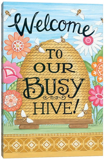 Busy Hive Canvas Art Print