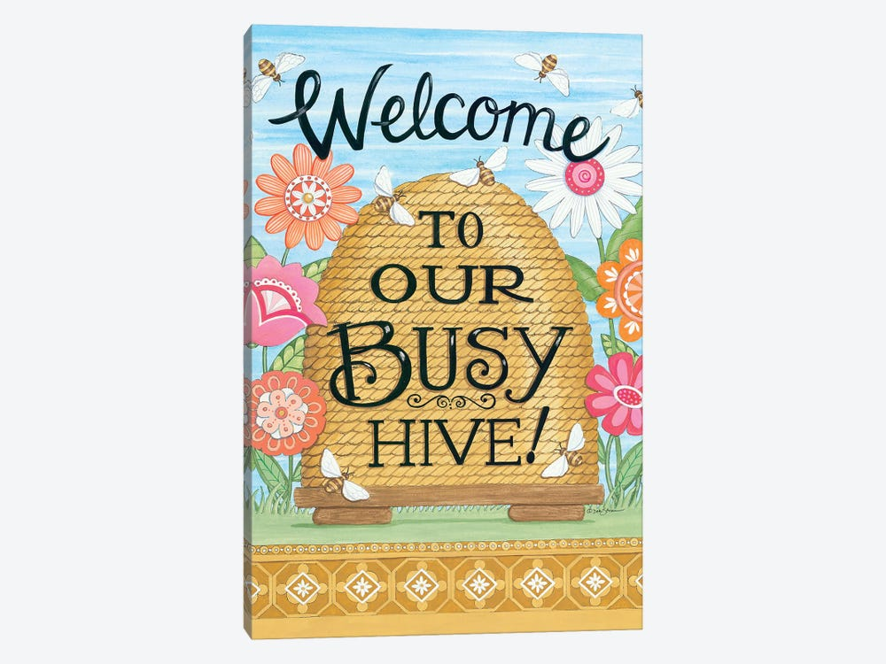 Busy Hive by Deb Strain 1-piece Canvas Wall Art