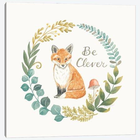 Be Clever Fox Canvas Print #DBS50} by Deb Strain Canvas Artwork