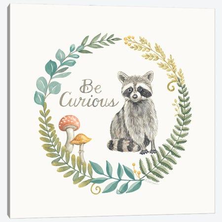 Be Curious Raccoon Canvas Print #DBS51} by Deb Strain Canvas Artwork