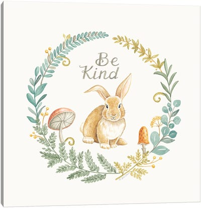 Be Kind Rabbit Canvas Art Print