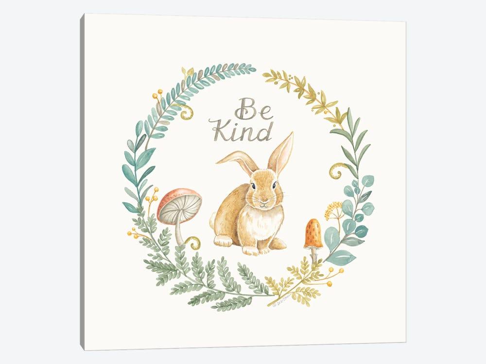 Be Kind Rabbit by Deb Strain 1-piece Canvas Art Print