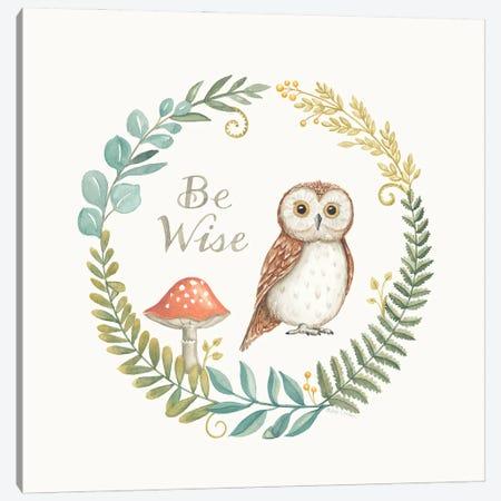 Be Wise Owl Canvas Print #DBS53} by Deb Strain Canvas Wall Art