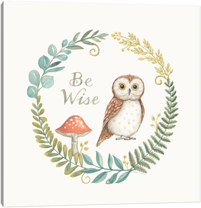Be Wise Owl Canvas Art Print