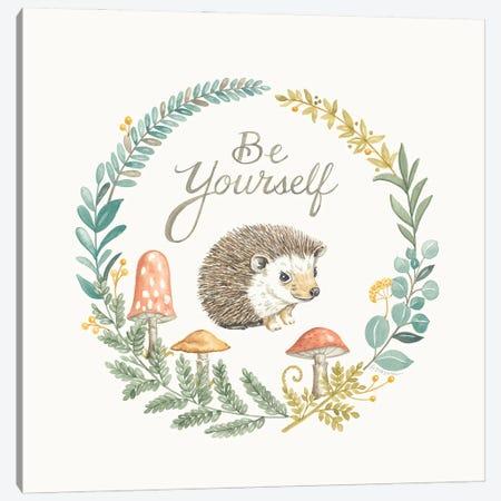 Be Yourself Hedgehog Canvas Print #DBS54} by Deb Strain Canvas Art Print