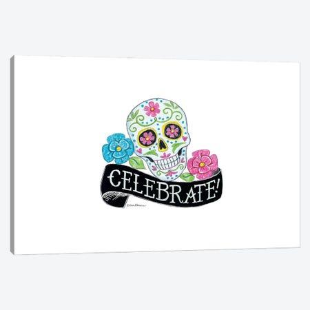 Celebrate Sugar Skull Canvas Print #DBS55} by Deb Strain Canvas Art Print