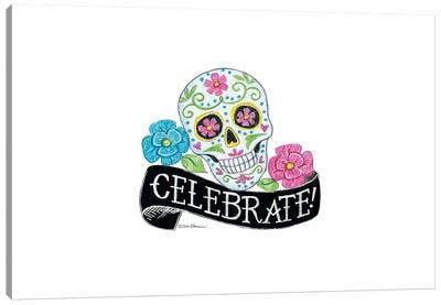 Celebrate Sugar Skull Canvas Art Print