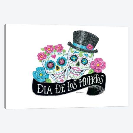 Day Of The Dead Sugar Skulls Canvas Print #DBS56} by Deb Strain Art Print