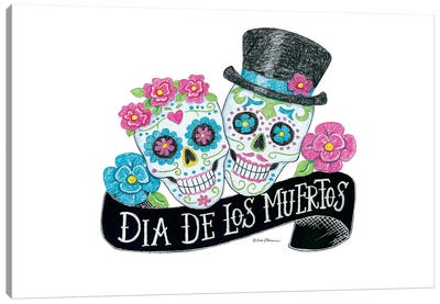 Day Of The Dead Sugar Skulls Canvas Art Print