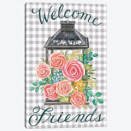 Lantern with Roses Canvas Print #DBS58} by Deb Strain Canvas Art