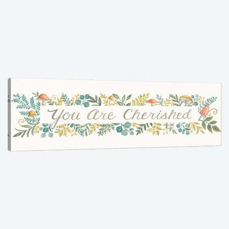 You Are Cherished Canvas Print #DBS59} by Deb Strain Canvas Art