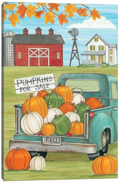 Pumpkins for Sale Canvas Art Print