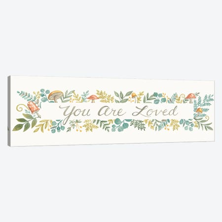 You Are Loved Canvas Print #DBS60} by Deb Strain Canvas Print
