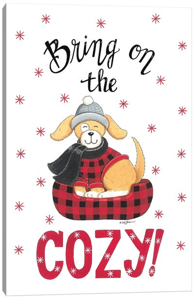 Bring On The Cozy Dog Canvas Art Print