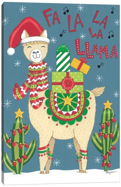 Fa La La La Llama Canvas Art Print
