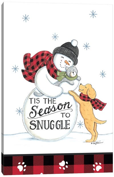 The Season To Snuggle Canvas Art Print