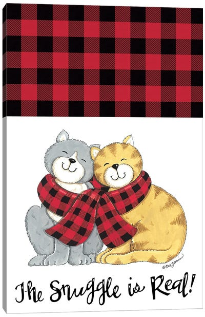 The Snuggle Is Real Cats Canvas Art Print